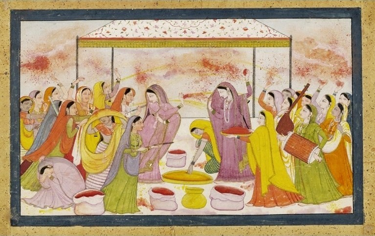 Radha_celebrating_Holi,_c1788