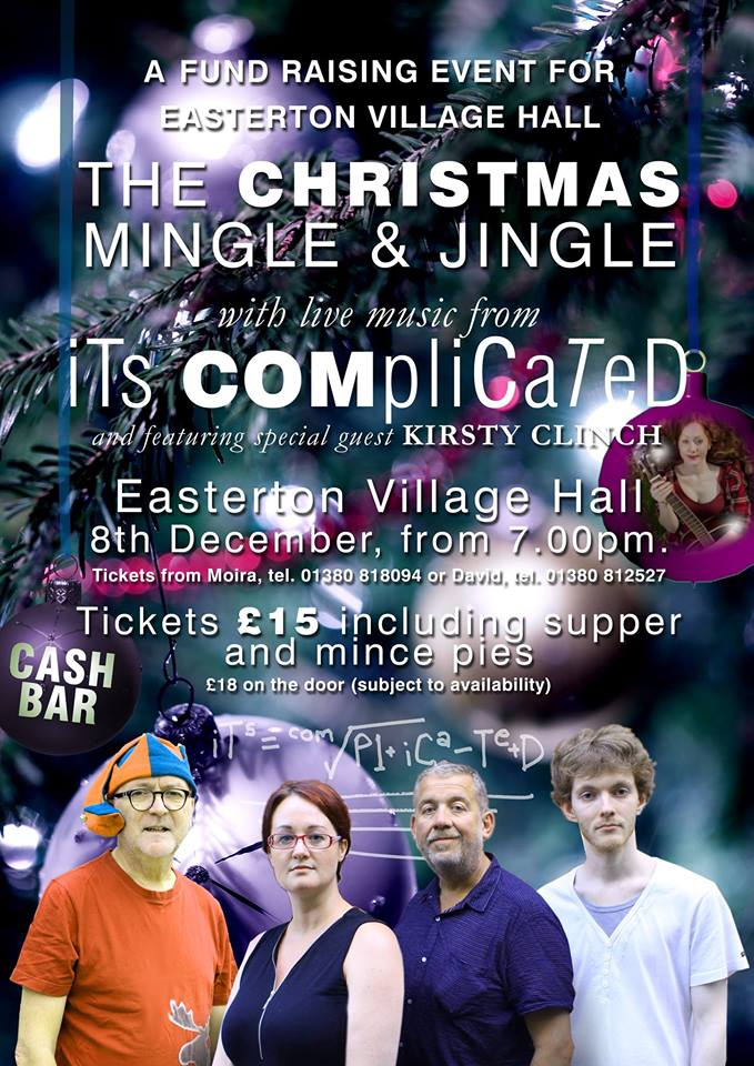 It's Complicated and Kirsty Clinch bid to improve Village Hall with ChristmasParty