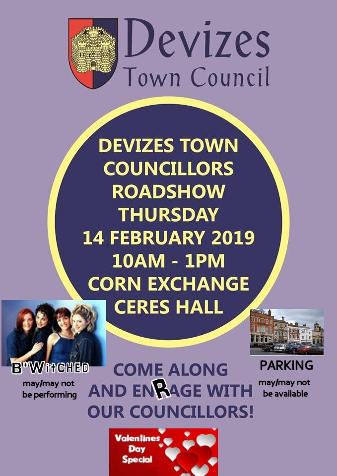 Looking for somewhere to take your love on Valentine's Day? Devizes Town CouncilRoadshow!