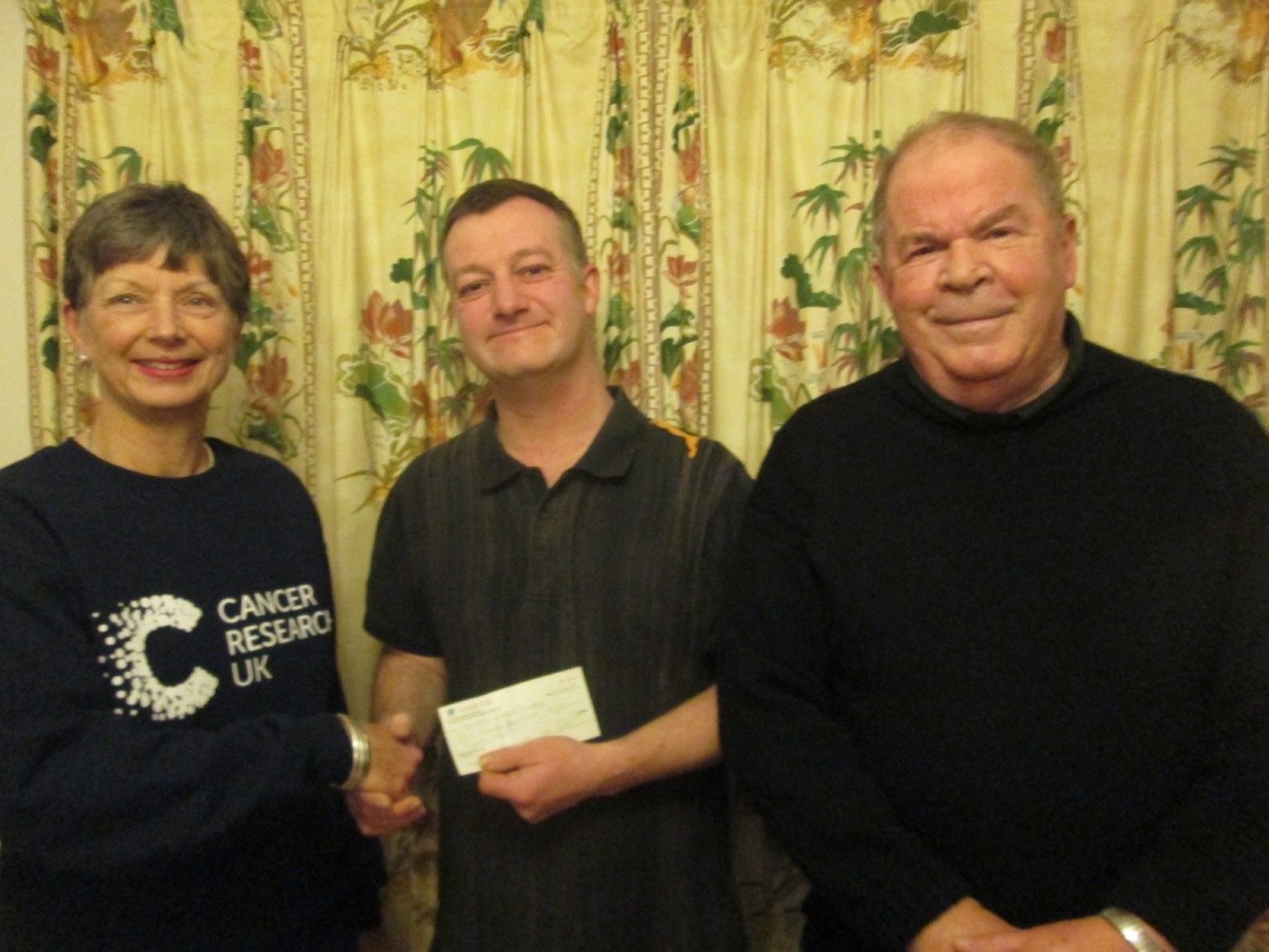 Handing over the Cheque….