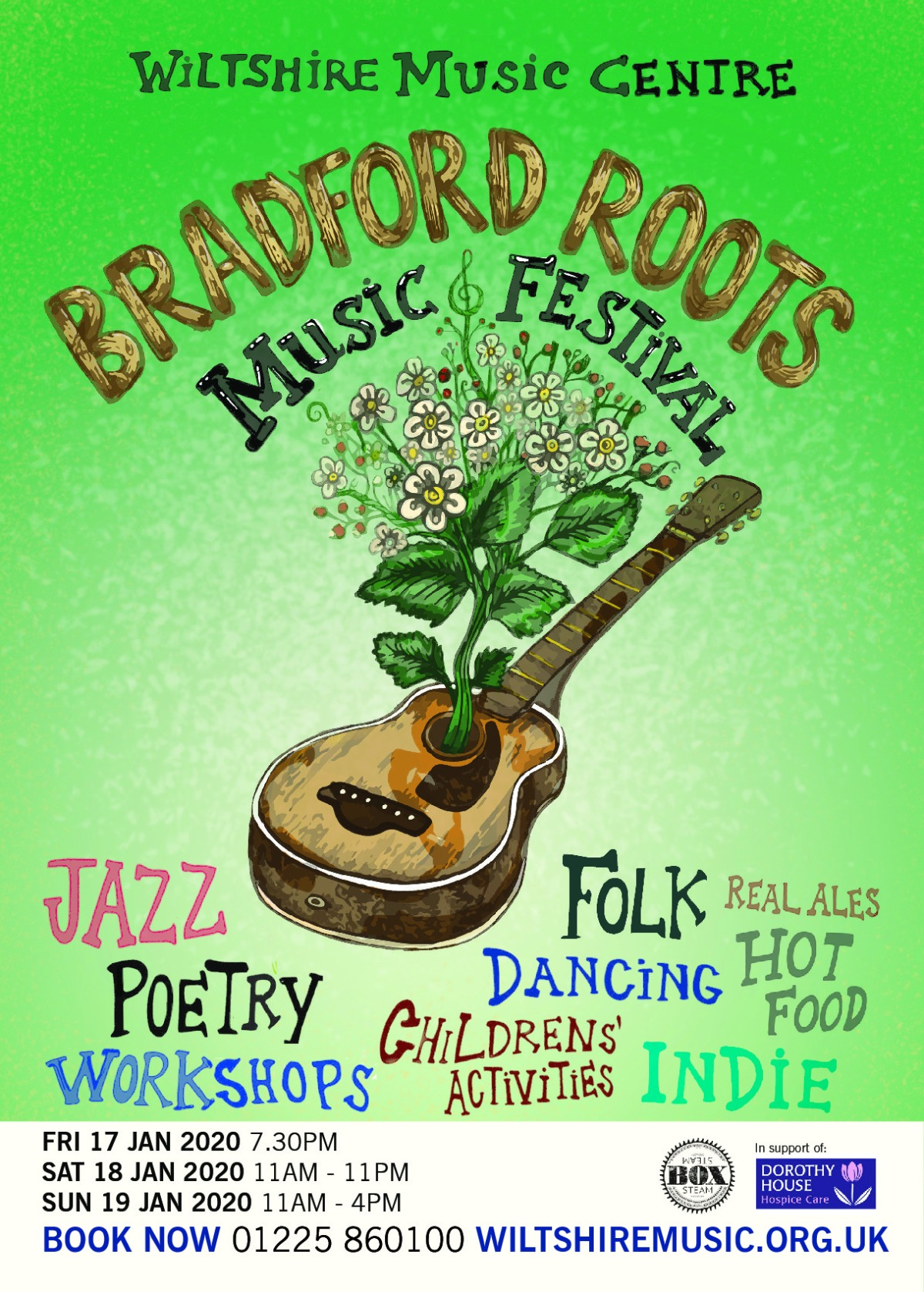 PREVIEW: Bradford Roots Music Festival 17th – 19th January 2020 @ Wiltshire Music Centre,Bradford