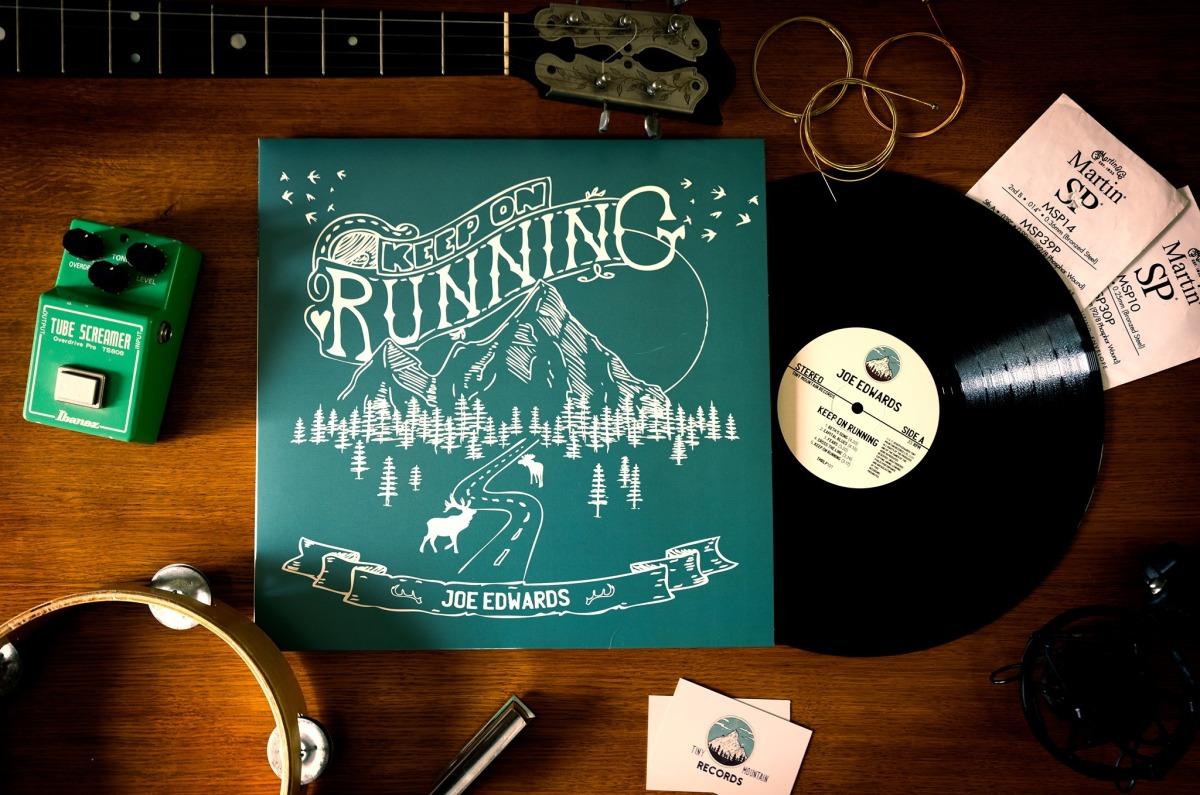 WIN Joe Edwards' Keep on Running album, onVinyl
