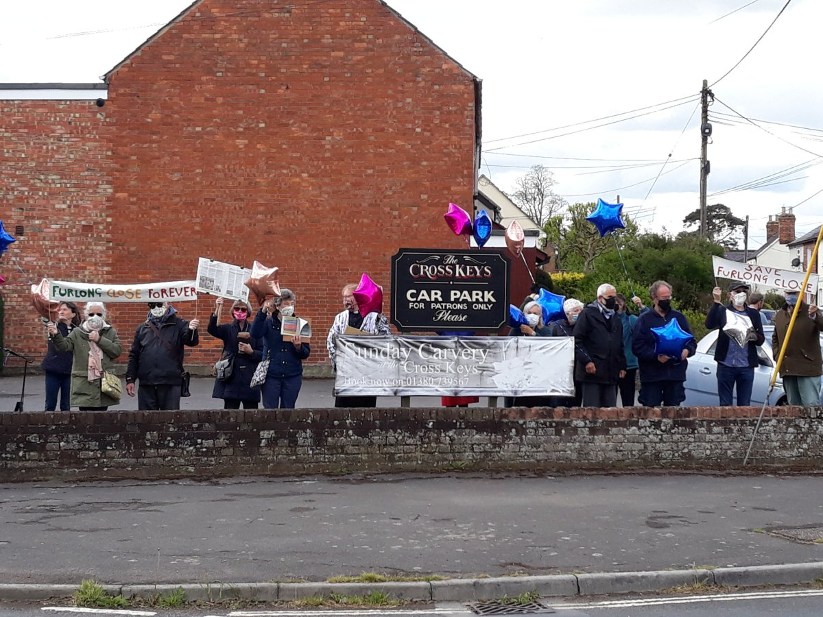 Save Furlong Close Campaigners Protest in Rowde